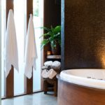 luxury accommodation Hepburn Springs spa retreat bathroom